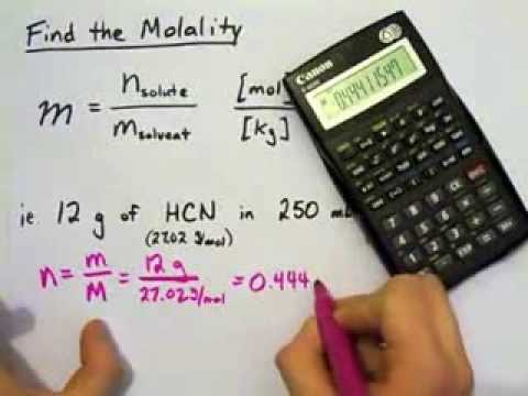 Molality: Find the Molality, Use Molality