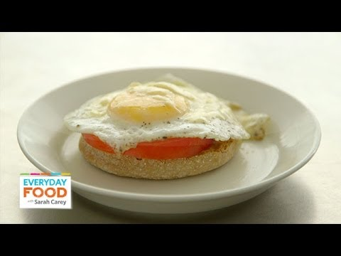 Open-Faced Egg Breakfast Sandwich - Everyday Food with Sarah Carey