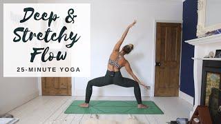 DEEP & STRETCHY FLOW | 25-Minute Yoga | CAT MEFFAN