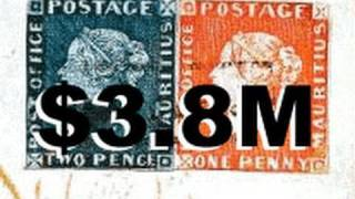 38m Rarest And Most Valuable Stamps In The World Mauritius Blue Red R