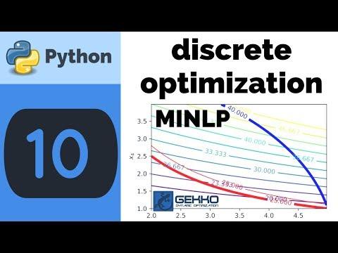 Discrete Optimization in Python GEKKO