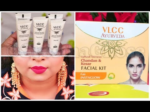 Pre -Party Glow | VLCC Ayurveda Chandan & Kesar facial Kit Review | SresthaGhose |