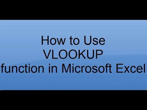 How to use VLOOKUP in Microsoft Excel