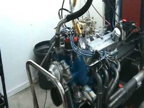 Ford 393 Windsor Stroker Engine Dyno Pull CNC-MOTORSPORTS
