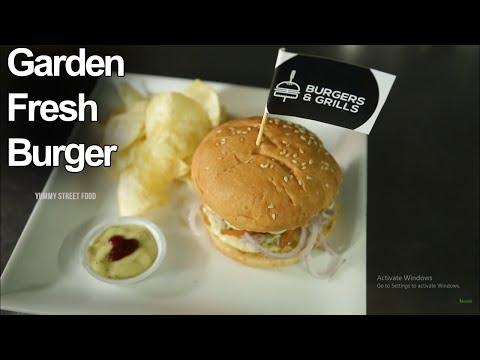Garden Fresh Burger | Veg Fresh Burger | Yummy Street Food