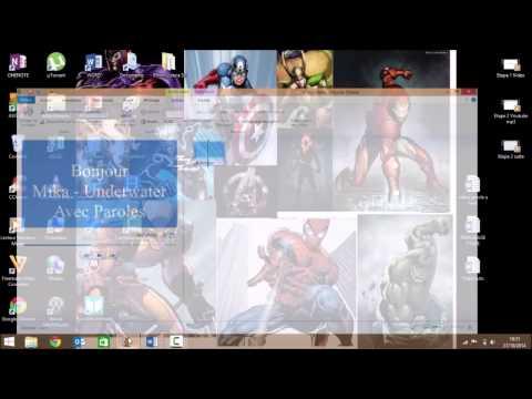 TUTO : Comment Faire une vidéo avec paroles d'une chanson avec Windows Movie Maker ?