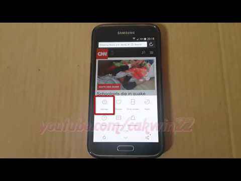 How to set rotation as Auto, Landscape or Portrait in UC Browser For Android