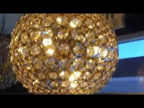Xiertek USA, Heidi Lighting /Chanel 12L Golden  Bouquet Crystal Chandelier (25
