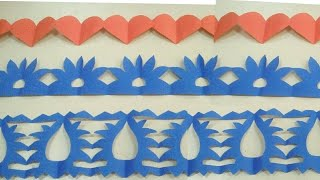 Diy Paper Border For Decorations How To Make Easy Paper Cutting