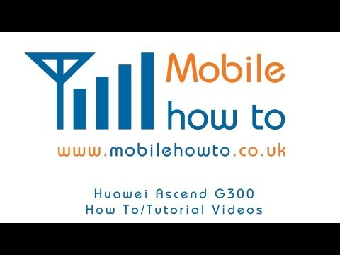 How To Set Voicemail/Answer Phone Number - Huawei Ascend G300