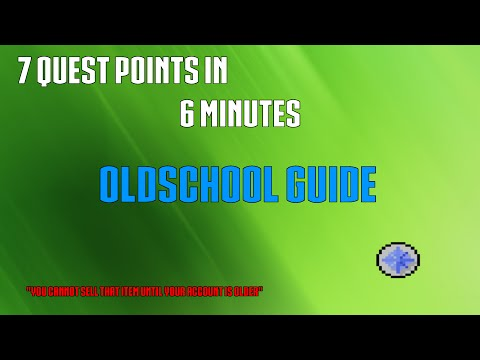 Fastest way to get 7 Quest Points F2P OSRS (Remove the beginner trade limit)