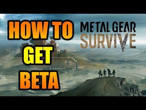 How To Get Metal Gear Survive Beta