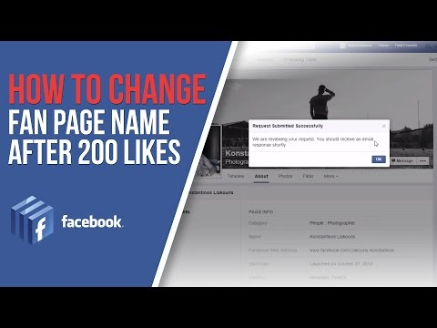 (New trick) How to Change Facebook Fan Page Name After 200 Likes
