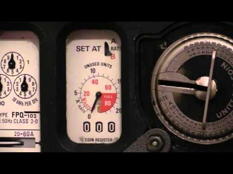 Electricity Meter : Ferranti FPQ-102 Dial type prepayment kWh meter.