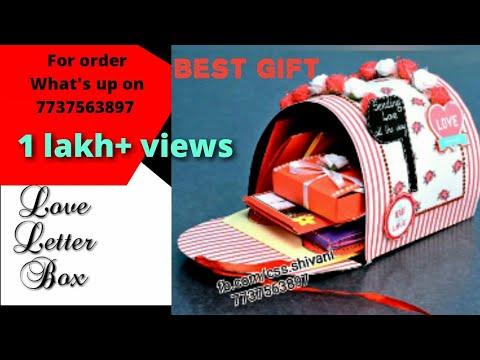 best gift for girlfriend / boyfriend / handmade letter box with 10 cards inside