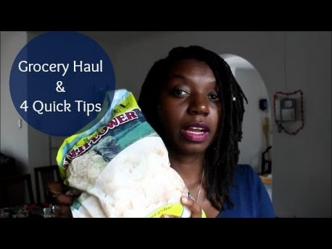 Grocery Haul + Shopping Tips