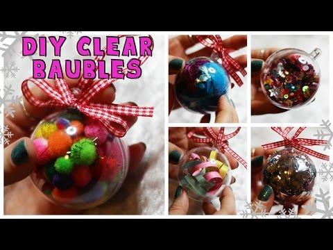 DIY | IDEAS FOR CLEAR BAUBLES/ORNAMENTS 5 WAYS!