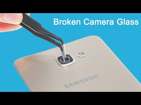 How to replace Galaxy A9(2016) cracked camera glass lens in two ways?
