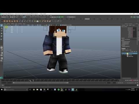 Maya 2016 Tutorial: How to Animate a Walking Minecraft Character