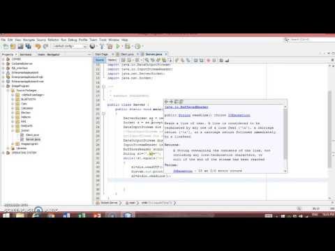 Socket Programming in Java using Netbeans