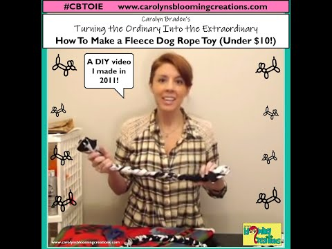 Carolyn Braden's TOIE: How to Make a Fleece Dog Rope Toy!
