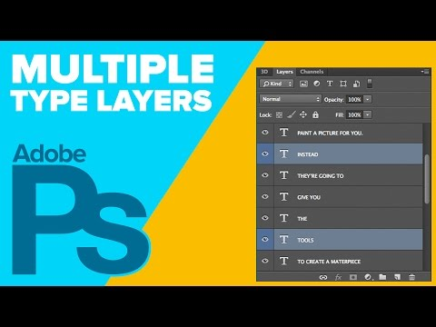 How to Edit Multiple Type Layers in Photoshop