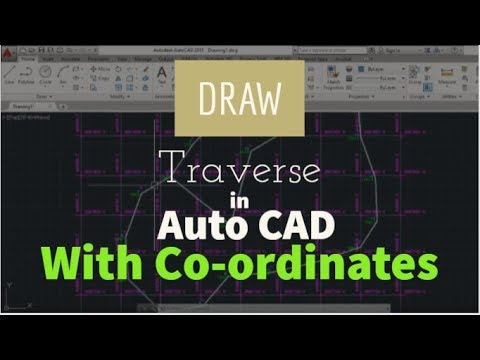 SW-DTM: Drawing a traverse in AutoCAD With Co-ordinates