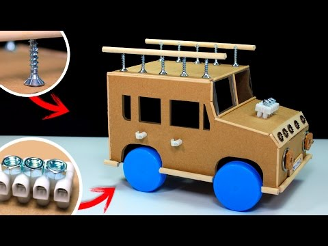 How To Make a Powered Car | Electric Car DIY