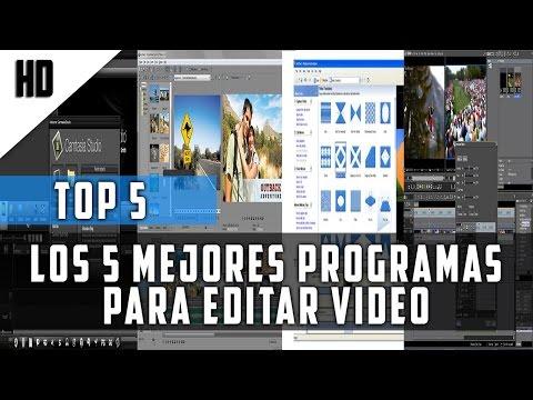 TOP 5 Los mejores programas para editar videos | 2015 | HD