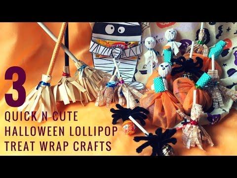 3QUICK n EASY DIY Halloween Spooky Lollipop Candy Crafts ハロウィーンお菓子/ロリポップ  萬聖節糖果/棒棒糖