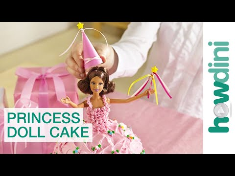 Birthday Cake Ideas: How to make a princess doll birthday cake
