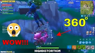 Download 360″ in the air with the *NEW* SHOPPING CART in Fortnite Battle Royale - Funny moments Video