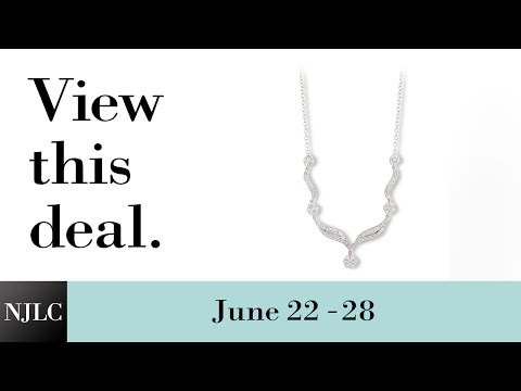 Deal of the Week: White Gold Diamond Necklace