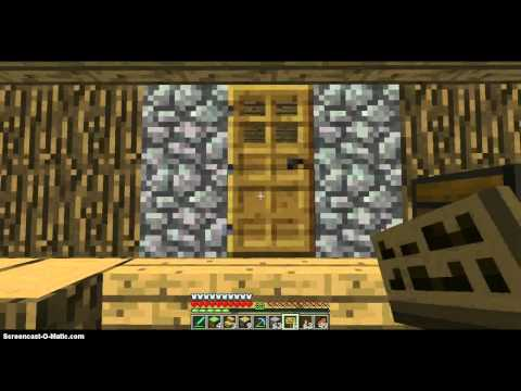 how to lock a door and chest in minecraft.