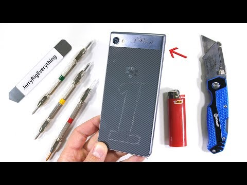 BlackBerry Motion has a Nano Diamond Screen? - Durability test!