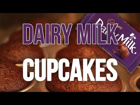 Easy Cadbury's Dairy Milk Cupcake in under a minute! (4K)