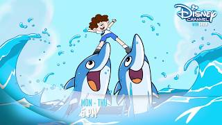 Bhaagam Bhaag | Dolphins Help Sunny Reach Class In Time | Disney India