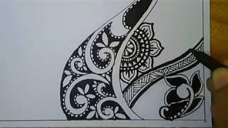 How To Vignette Zentangle Art Batik Pola Doodle Art