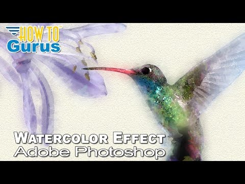 Photoshop Watercolor Effect : Watercolor Painting Art in CC 2018 CS6 CS5 Tutorial
