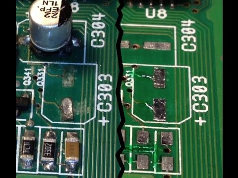 PCB solder pad repair & corrosion clean up - The epoxy method