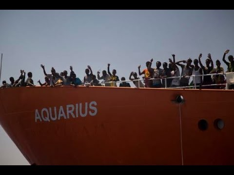 End to suffering in sight as Italy sends ships to help take rejected migrants to Spain | ITV News