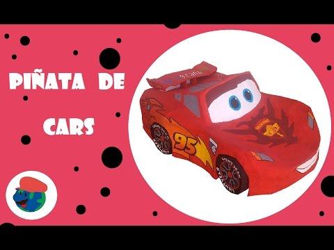 Piñata de Cars, Cars Pinata, Rayo Mcqueen, Lightning Mcqueen