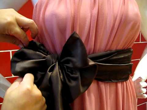 How to tie the sash into A BOW with Designer Anne Hung