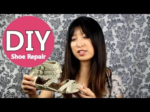 DIY SHOE REPAIR - How to Fix Your Own shoes at Home Quick Money Saving Tips