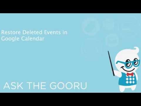 Restore Deleted Events in Google Calendar