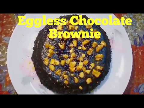 How to make Eggless Chocolate Brownie in microwave l Eggless Brownie Recipe