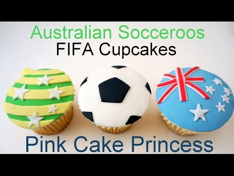 2014 FIFA World Cup Socceroos & Soccer Ball Cupcakes 4 Tim Cahill by Pink Cake Princess - how to