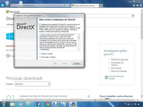 Como Atualizar o Directx do Windows