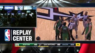 Marcus Smart Flagrant Foul On Matt Bonner ,Smart Punch Bonner