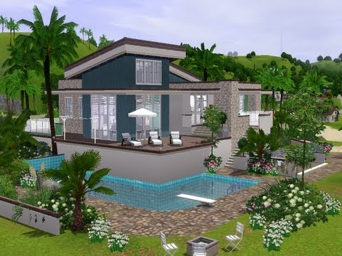 The Sims 3 - Building a modern holiday house
